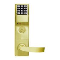 DL4575DBR-US3 Alarm Lock Trilogy Electronic Digital Lock in Polished Brass Finish