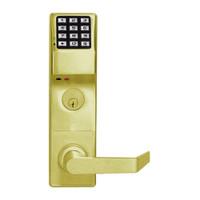 DL3500DBL-US3 Alarm Lock Trilogy Electronic Digital Lock in Polished Brass Finish