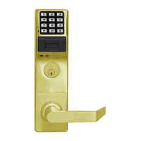 PDL3500DBR-US3 Alarm Lock Trilogy Electronic Digital Lock in Polished Brass Finish