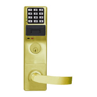 PDL3575DBR-US3 Alarm Lock Trilogy Electronic Digital Lock in Polished Brass Finish