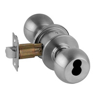 A80JD-ORB-626 Schlage Orbit Commercial Cylindrical Lock in Satin Chromium Plated