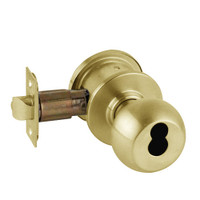 A79JD-ORB-605 Schlage Orbit Commercial Cylindrical Lock in Bright Brass