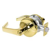 AL50PD-SAT-605 Schlage Saturn Cylindrical Lock in Bright Brass