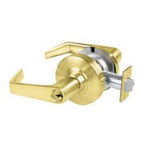 AL50PD-SAT-606 Schlage Saturn Cylindrical Lock in Satin Brass