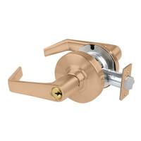 AL70PD-SAT-612 Schlage Saturn Cylindrical Lock in Satin Bronze