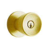 D72PD-TUL-606 Schlage Tulip Cylindrical Lock in Satin Brass