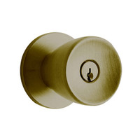 D72PD-TUL-609 Schlage Tulip Cylindrical Lock in Antique Brass