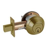B660P-609 Schlage B660 Bored Deadbolt Locks in Antique Brass