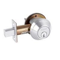 B661P-625 Schlage B660 Bored Deadbolt Locks in Bright Chromium Plated