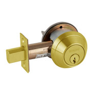 B662P-605 Schlage B660 Bored Deadbolt Locks in Bright Brass
