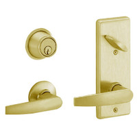 S210PD-JUP-606 Schlage S210PD Jupiter Style Interconnected Lock in Satin Brass