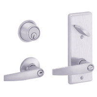 S251PD-JUP-626 Schlage S251PD Jupiter Style Interconnected Lock in Satin Chromium Plated