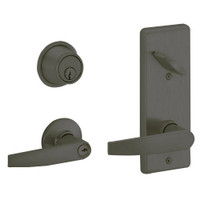 S280PD-JUP-613 Schlage S280PD Jupiter Style Interconnected Lock in Oil Rubbed Bronze