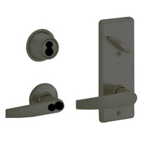 S270JD-JUP-613 Schlage S270PD Jupiter Style Interconnected Lock in Oil Rubbed Bronze