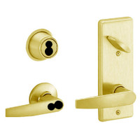S280JD-JUP-605 Schlage S280PD Jupiter Style Interconnected Lock in Bright Brass