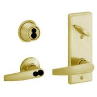 S280JD-JUP-606 Schlage S280PD Jupiter Style Interconnected Lock in Satin Brass