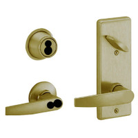 S280JD-JUP-609 Schlage S280PD Jupiter Style Interconnected Lock in Antique Brass