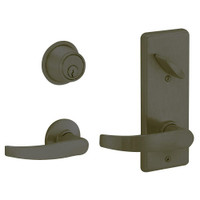 S210PD-NEP-613 Schlage S210PD Neptune Style Interconnected Lock in Oil Rubbed Bronze
