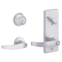 S251PD-NEP-626 Schlage S251PD Neptune Style Interconnected Lock in Satin Chromium Plated