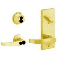 S280JD-NEP-605 Schlage S280PD Neptune Style Interconnected Lock in Bright Brass