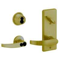 S280JD-NEP-609 Schlage S280PD Neptune Style Interconnected Lock in Antique Brass