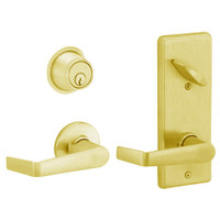 S210PD-SAT-605 Schlage S210PD Saturn Style Interconnected Lock in Bright Brass