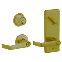 S251PD-SAT-609 Schlage S251PD Saturn Style Interconnected Lock in Antique Brass