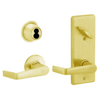 S210JD-SAT-605 Schlage S210PD Saturn Style Interconnected Lock in Bright Brass