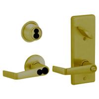 S251JD-SAT-609 Schlage S251PD Saturn Style Interconnected Lock in Antique Brass