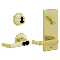 S270JD-SAT-606 Schlage S270PD Saturn Style Interconnected Lock in Satin Brass