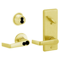 S280JD-SAT-605 Schlage S280PD Saturn Style Interconnected Lock in Bright Brass