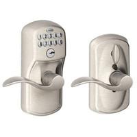 FE595-PLY-619-ACC Schlage Electrical Keypad Deadbolt Lock in Satin Nickel