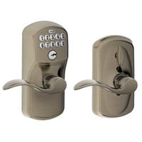 FE595-PLY-620-ACC Schlage Electrical Keypad Deadbolt Lock in Antique Pewter