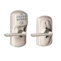 FE595-PLY-619-LAT Schlage Electrical Keypad Deadbolt Lock in Satin Nickel