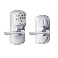 FE595-PLY-626-LAT Schlage Electrical Keypad Deadbolt Lock in Satin Chrome