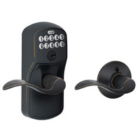 FE575-PLY-716-ACC Schlage Electrical Keypad Entry Auto-Lock in Aged Bronze