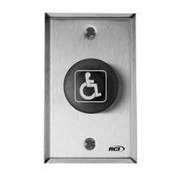 906MA-32D RCI Mushroom Push Button Maintained Switch Mode in Brushed Stainless Steel Finish