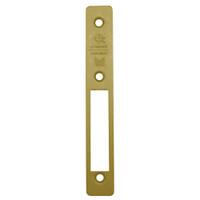 24-0384-210-US4 Adams Rite Deadlock LH Bevel Faceplate in Satin Brass