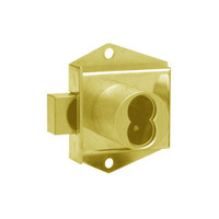 Olympus 725MD-DW-KVH-US3 Cabinet Locks in Bright Brass Finish