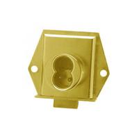 Olympus 725ML-DR-RH-US3 Cabinet Locks in Bright Brass Finish