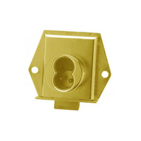 Olympus 725ML-DR-LH-US3 Cabinet Locks in Bright Brass Finish