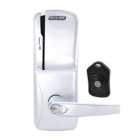 CO220-CY-75-MS-ATH-RD-625 Schlage Standalone Classroom Lockdown Solution Cylindrical Swipe locks in Bright Chrome