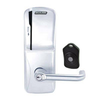 CO220-CY-75-MS-TLR-RD-625 Schlage Standalone Classroom Lockdown Solution Cylindrical Swipe locks in Bright Chrome