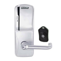 CO220-CY-75-MS-TLR-RD-626 Schlage Standalone Classroom Lockdown Solution Cylindrical Swipe locks in Satin Chrome