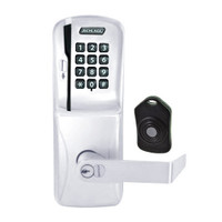 CO220-CY-75-MSK-RHO-RD-625 Schlage Standalone Classroom Lockdown Solution Cylindrical Swipe with Keypad locks in Bright Chrome