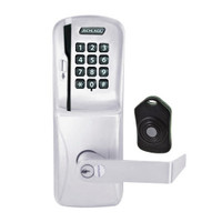 CO220-CY-75-MSK-RHO-RD-626 Schlage Standalone Classroom Lockdown Solution Cylindrical Swipe with Keypad locks in Satin Chrome
