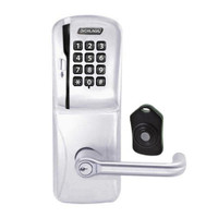 CO220-CY-75-MSK-TLR-RD-626 Schlage Standalone Classroom Lockdown Solution Cylindrical Swipe with Keypad locks in Satin Chrome