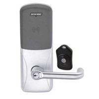 CO220-CY-75-PR-TLR-RD-625 Schlage Standalone Classroom Lockdown Solution Cylindrical Proximity locks in Bright Chrome