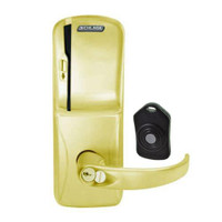 CO220-MS-75-MS-SPA-RD-605 Schlage Standalone Classroom Lockdown Solution Mortise Swipe locks in Bright Brass