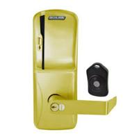 CO220-MS-75-MS-RHO-RD-606 Schlage Standalone Classroom Lockdown Solution Mortise Swipe locks in Satin Brass